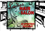 Ladies Hair Salon Sign