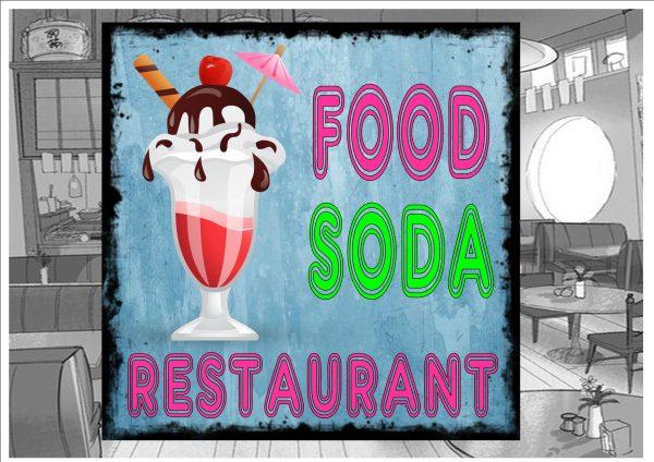 Food & Soda Sign Plaque
