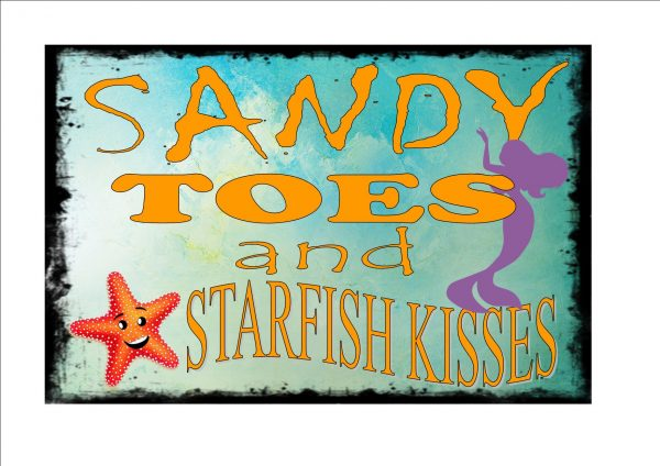 Sandy Toes Beach Sign