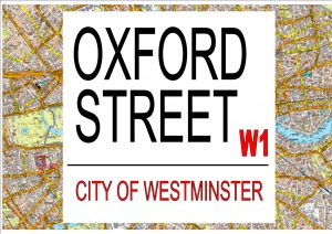 Oxford Street London Street Sign