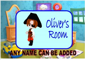 Child's Pirate Door Plaque