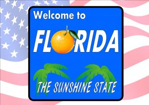 USA Style Florida Road Sign