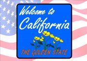 USA Style California Road Sign