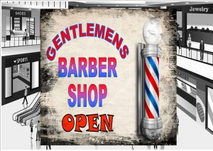 Gentlemen's Barber Shop Sign