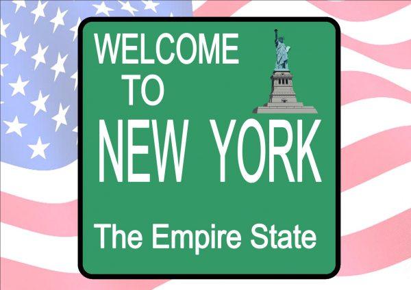 USA Style Novelty New York City Rod Sign