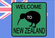 New Zealand Style Novelty Road Sign