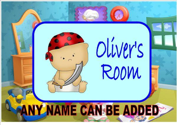 Baby Pirate Door Plaque