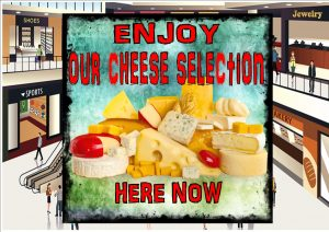 Deli Cheese Shop Sign