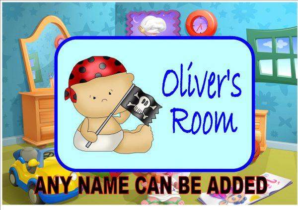 Child's Baby Pirate Door Plaque