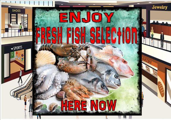 Fishmonger Fish Shop Sign