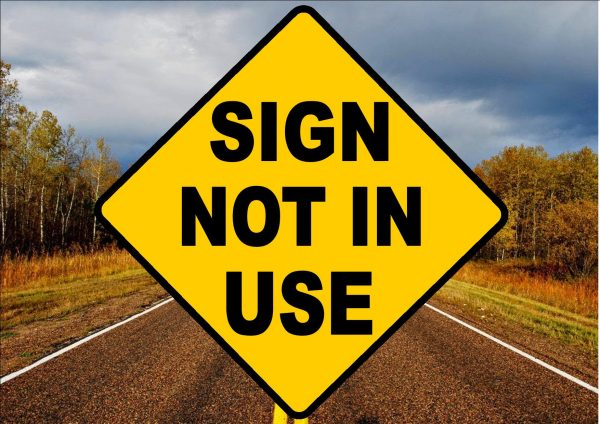 Novelty Joke road Sign