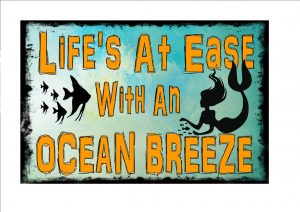 Ocean Breeze Sign