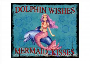 Mermaid Dolphin Sign