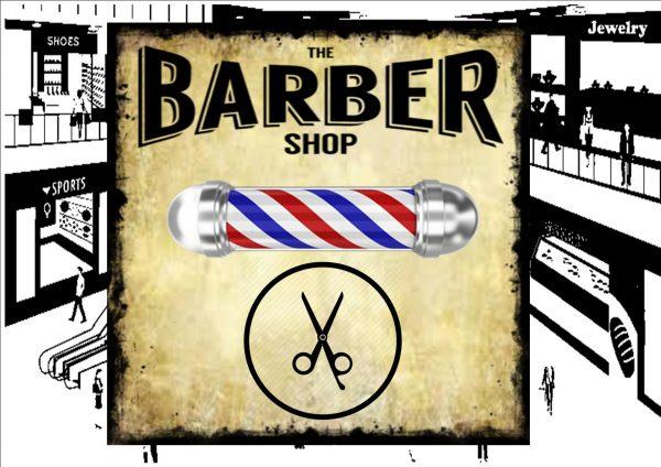 Vintage Barber Shop Sign