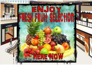 Greengrocer Fresh Fruit Shop Sign