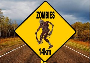 Novelty Zombie Road Sign