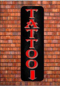 Tattoo Parlour Shop Sign