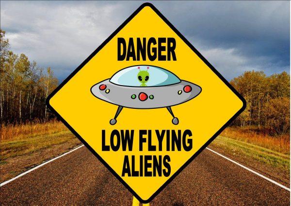 Novelty Alien Road Sign