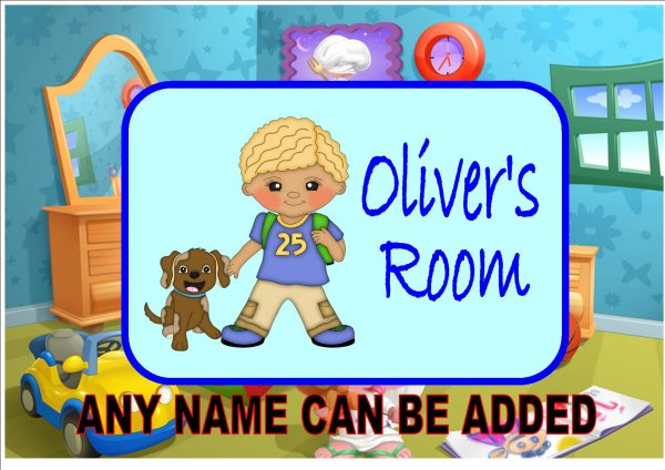 Child's Bedroom Door Plaque