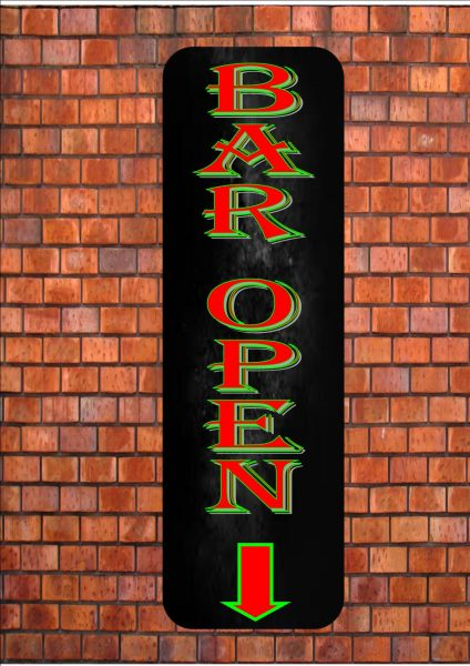 Bar Open Sign Wall Plaque