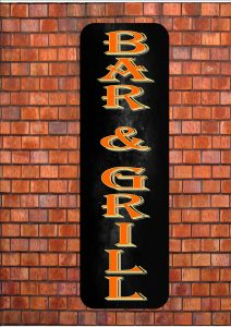 Bar & Grill Sign Wall Plaque