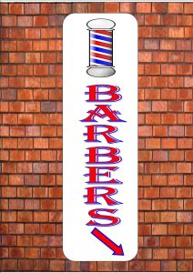 Barbers Shop Sign Wall Paque