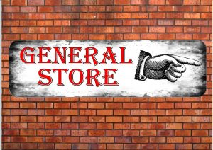 General Store Sign Wall Plaque