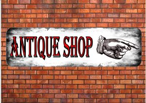 Antique Shop Sign Wall Plaque