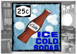 Ice Cod Soda Sign