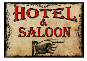 Hotel & Saloon Sign