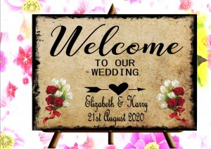 Wedding Venue Welcome sign