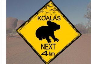 Australian Style Koala Sign