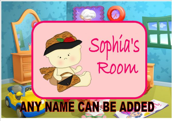 Little Girls Bedroom Door Plaque