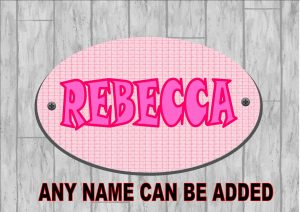 Girls Bedroom Personalised Door Sign Pink Ribbon