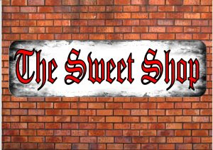Sweet Shop Candy Store Sign Wall Plaque