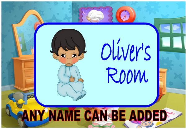 Baby Boys Bedroom Door Plaque
