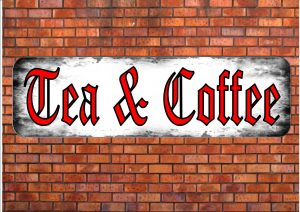 Tea & Coffee Shop Sign Wall Plaque