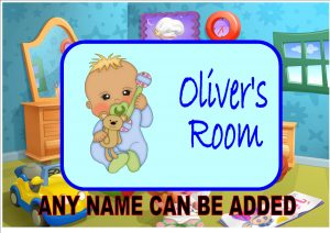 Baby Boys Bedroom door Plaque