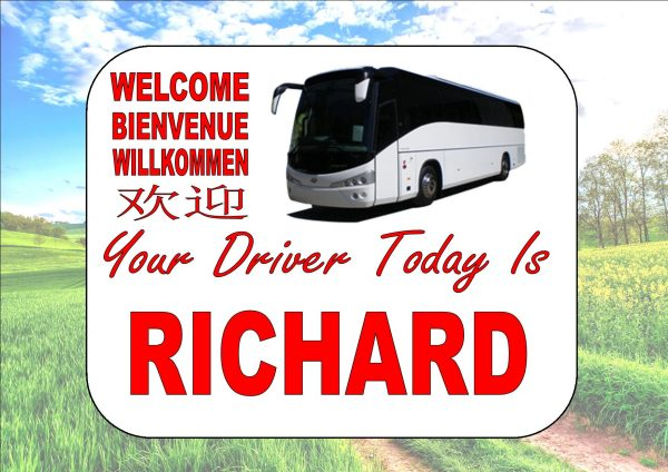Personalised Coach Drivers Sign