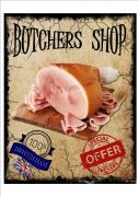 Vintage Butchers Shop Sign