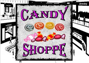 Vintage Sweet Shop Sign