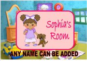 Childrens Girl Door Plaque