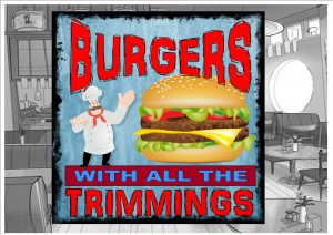 Burgers Sign Wall Plaque