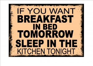 Breakfast Kitchen Sign