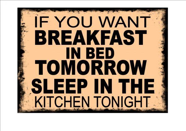 Breakfast Kitchen Sign