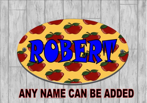 Boys Personalised Door Sign Summer Apple