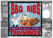 BBQ Ribs Sign Wall Plaque