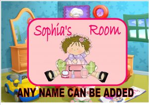 Little Girls Bedroom Door Plaque
