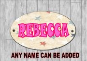 Girls Bedroom Personalised Door Sign Stars