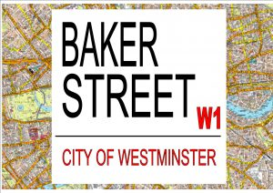 Baker Street London Street Sign